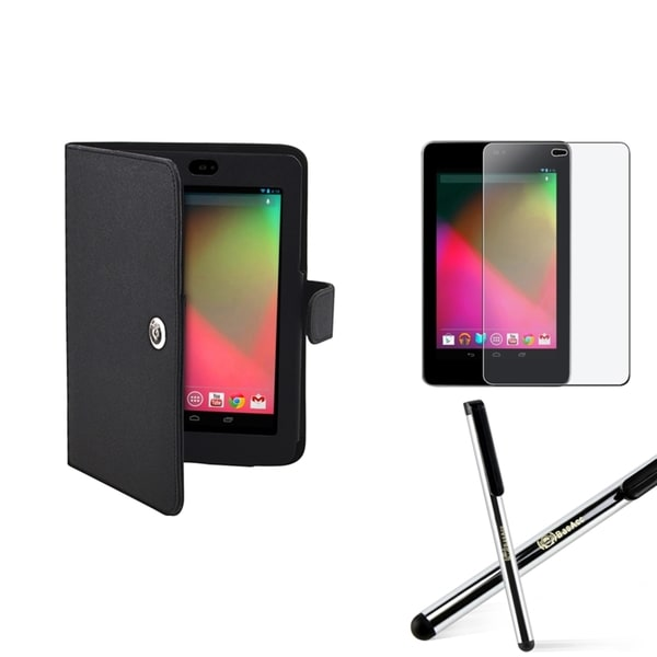 BasAcc Black Case/ Screen Protector/ Stylus for Google Nexus 7
