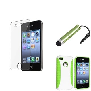 BasAcc Green Case/ Screen Protector/ Stylus for Apple� iPhone 4/ 4S
