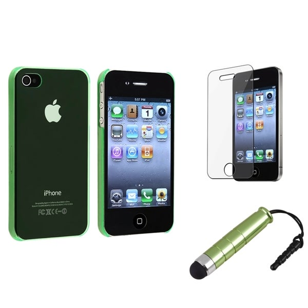 BasAcc Green Case/ Screen Protector/ Stylus for Apple® iPhone 4/ 4S