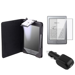 BasAcc Black Case/ Screen Protector/ Charger for Amazon Kindle 4