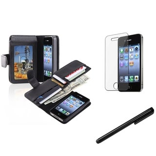 BasAcc Black Case/ Screen Protector/ Stylus for Apple� iPhone 4/ 4S