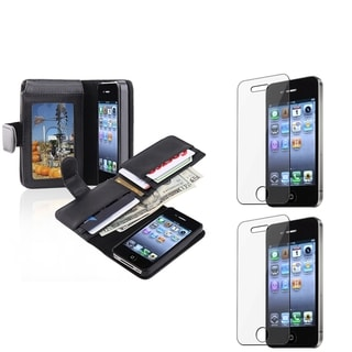 BasAcc Black Case/ Screen Protector for Apple� iPhone 4/ 4S