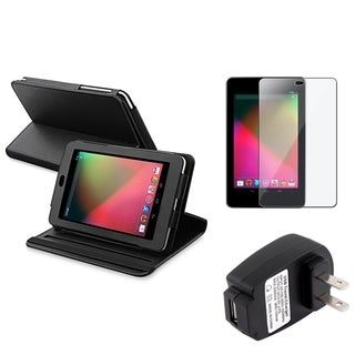 BasAcc Black Case/ Screen Protector/ Charger for Google Nexus 7