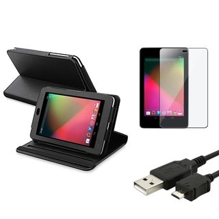 BasAcc Black Case/ Screen Protector/ Cable for Google Nexus 7