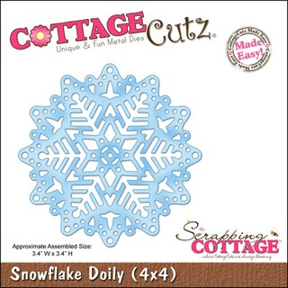 "CottageCutz Die 4""X4""-Snowflake Doily Made Easy"