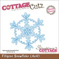 "CottageCutz Die 4""X4""-Filigree Snowflake Made Easy"