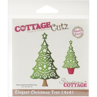 CottageCutz 'Elegant Christmas Tree' 4x4-inch Die