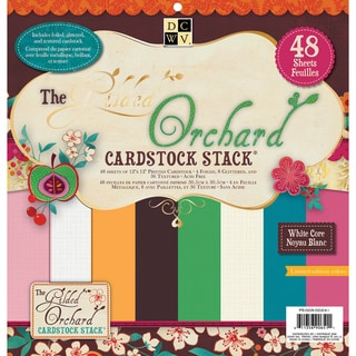 "Gilded Orchard Solid Cardstock Stack 12""X12""-48 Sheets"