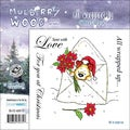 "Mullberry Wood EZMount Cling Stamp Set 4-3/4""X4-3/4""-All Wrapped Up"
