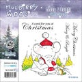 "Mullberry Wood EZMount Cling Stamp Set 4-3/4""X4-3/4""-Merry & Bright"