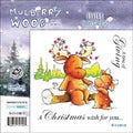 "Mullberry Wood EZMount Cling Stamp Set 4-3/4""X4-3/4""-Giving"