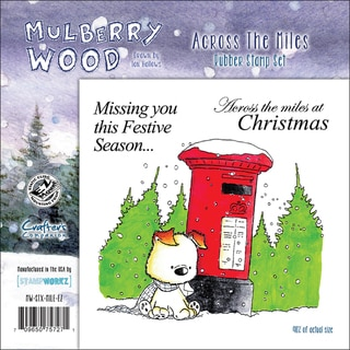 """Mullberry Wood EZMount Cling Stamp Set 4-3/4""""X4-3/4""""-Across The Miles"""