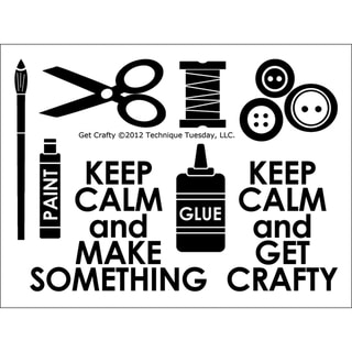 """Technique Tuesday Clear Stamps 3""""X4""""-Get Crafty"""