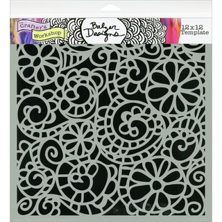 "Crafter's Workshop Templates 12""X12""-Swirly Garden"