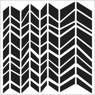 "Crafter's Workshop Templates 12""X12""-Chunky Chevron"