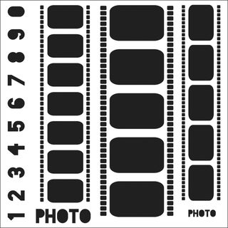 "Crafter's Workshop Templates 12""X12""-Filmstrips"