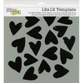 "Crafter's Workshop Templates 12""X12""-Spilled Hearts"