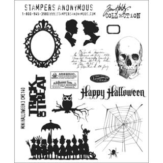 Tim Holtz Large Cling Rubber Stamp Set-Mini Halloween #3