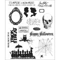 Tim Holtz Large Cling Rubber Stamp Set-Mini Halloween #3