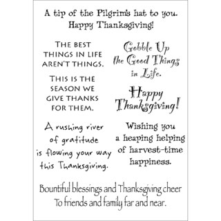 Words To The Rescue Clear Stamp Set-Thanksgiving