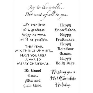 Words To The Rescue Clear Stamp Set-Christmas