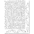 "Dyan Reaveley's Dylusions Stencils 9""X12""-Ho Ho Holly"