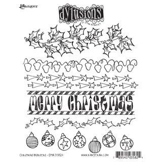 Dyan Reaveley's Dylusions Cling Stamp Collection-Christmas Borders