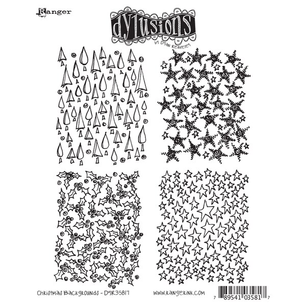 Dyan Reaveley's Dylusions Cling Stamp Collection-Christmas Background