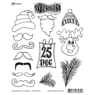 Dyan Reaveley's Dylusions Cling Stamp Collection-Christmas Accessories