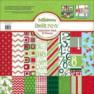 "Mistletoe Collection Pack 12""X12""-18 Double-Sided Papers + Sticker Sheet"