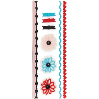 Paper Cottage Felt Stickers & Trims-Stitching, Layered & Button Accents