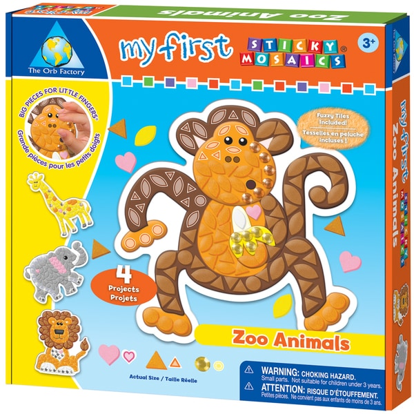 My First Sticky Mosaics Kit-Zoo Animals