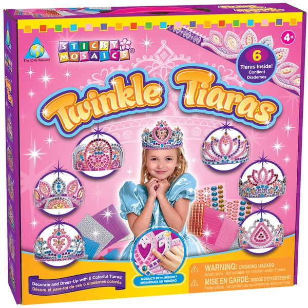 Sticky Mosaics Kit-Twinkle Tiaras