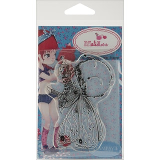 Stampavie Anne Cresci Clear Stamp-Simon Papillon 3-1/2 inches