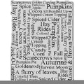Stampendous Halloween Cling Rubber Stamp-Autumn Words