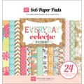 "Everyday Eclectic Cardstock Pad 6""X6""-24 Double-Sided Sheets"