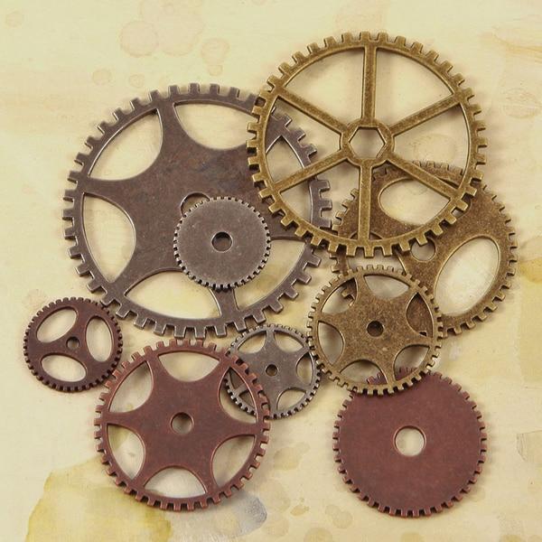 Junkyard Findings Vintage Trinkets-Gears 9/Pkg