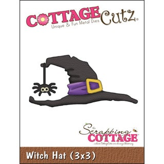 "CottageCutz Die 3""X3""-Witch Hat"