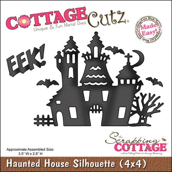 CottageCutz 'Haunted House Silhouette' 4x4-inch Die