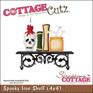 CottageCutz 'Spooky Iron Shelf' 4x4-inch Die