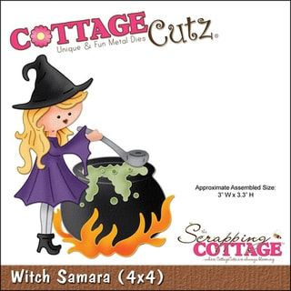 CottageCutz 'Witch Samara' 4x4-inch Die