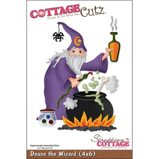 CottageCutz &#39;Deuce The Wizard&#39; 4x6-inch Die