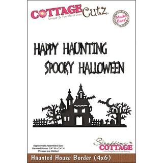 CottageCutz 'Haunted House Border' 4x6-inch Die