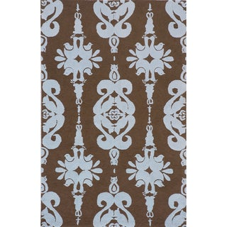 Momeni 'Lil Mo Baby Blue Damask' Cotton Rug