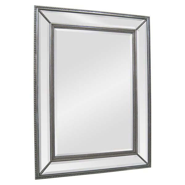 Silver Angle Beveled Mirror