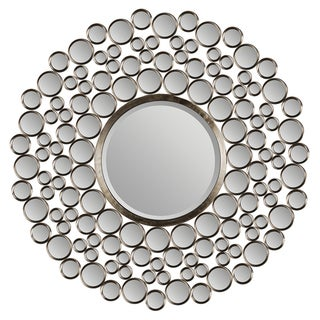 Chic Satin Nickel Round Mirror
