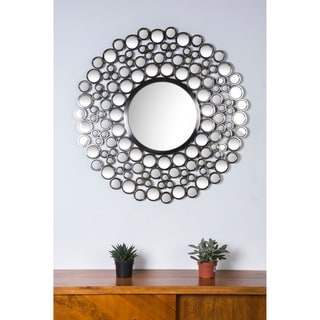 Ren-Wil Chic Satin Nickel Round Mirror