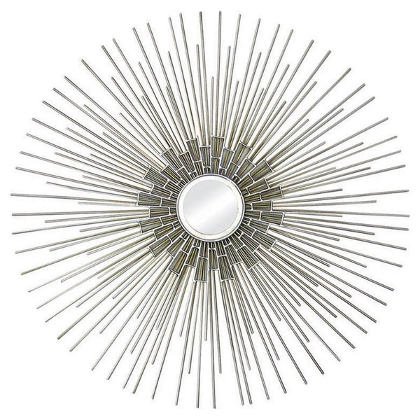 Silver and Gold Circular Mirror