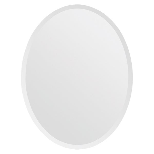 Beveled Frameless Oval Mirror