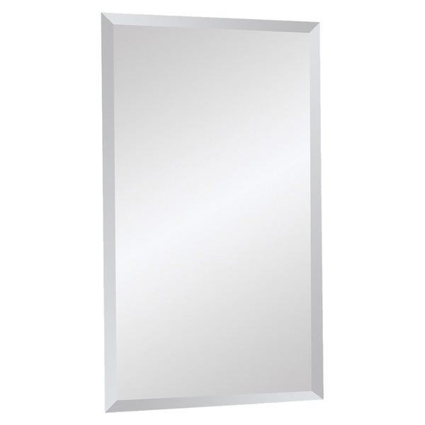 Beveled Frameless Rectangular Mirror 14803363 Shopping Great Deals On Renwil